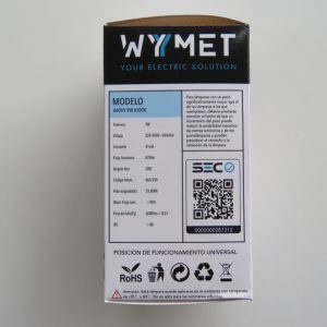 AMPOLLETA LED A60HY 9W 6500K, LUZ FRIA VOLTAJE 220-240 50/60Hz-0