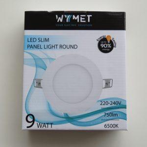 PANEL LED SLIM ROUND 9W 6500K, LUZ FRIA VOLTAJE 220-240 50/60Hz-0