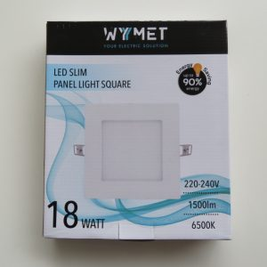 PANEL LED SLIM CUADRADO 18W 6500K, LUZ FRIA VOLTAJE 220-240 50/60Hz-0