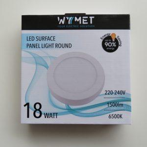 PANEL LED SURFACE ROUND 18W 6500K, LUZ FRIA VOLTAJE 220-240 50/60Hz-0